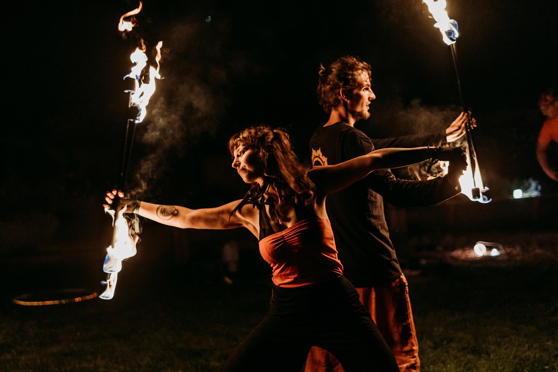 Duet ogniowy fire staff